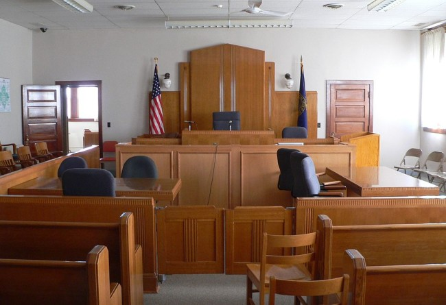 Knox County Courthouse (Nebraska) courtroom