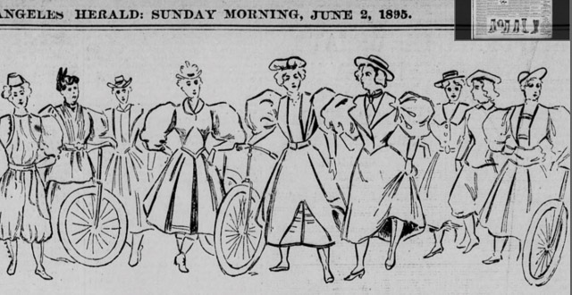 What One May Wear, [on Bicyles] The Herald (Los Angeles, CA), June 2, 1895