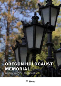 Oregon Holocaust Memorial Header