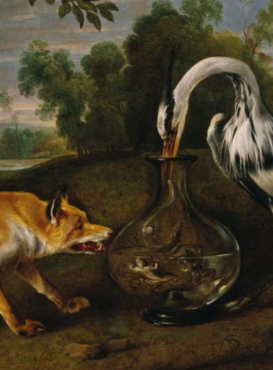 Fox and the Heron