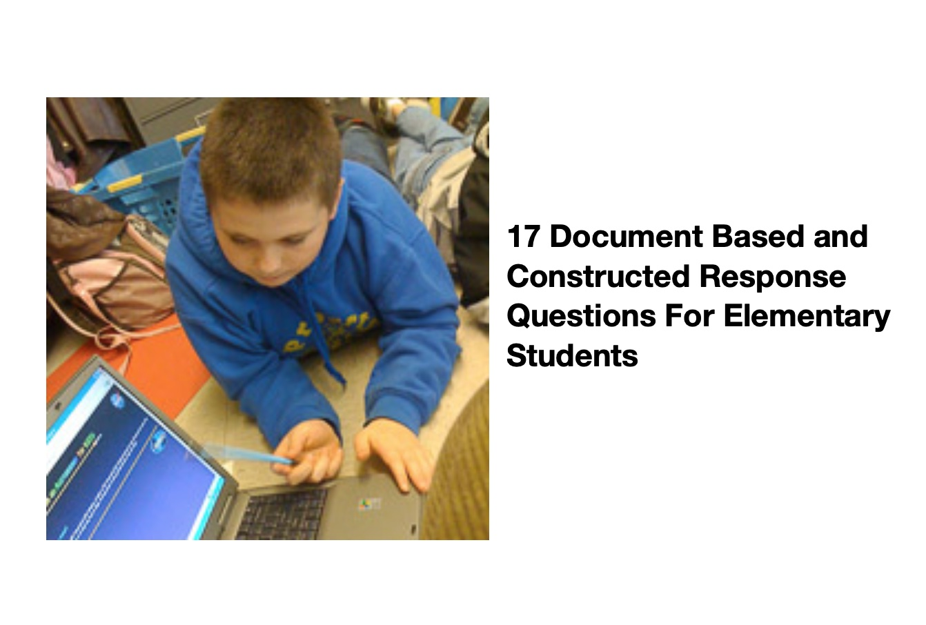 17 Document Based and Constructed Response Questions For Elementary Students