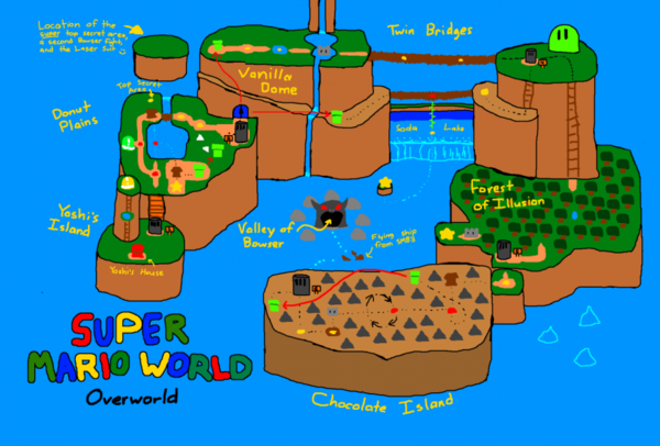 Super Mario World world map by fliptaco