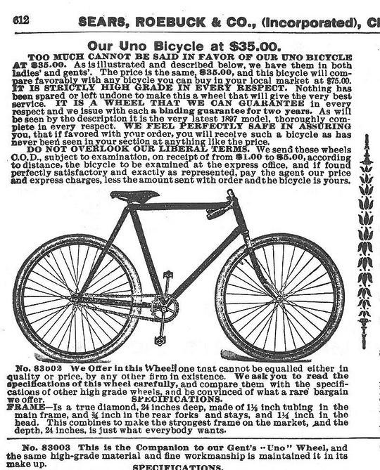 sears bikes 1897