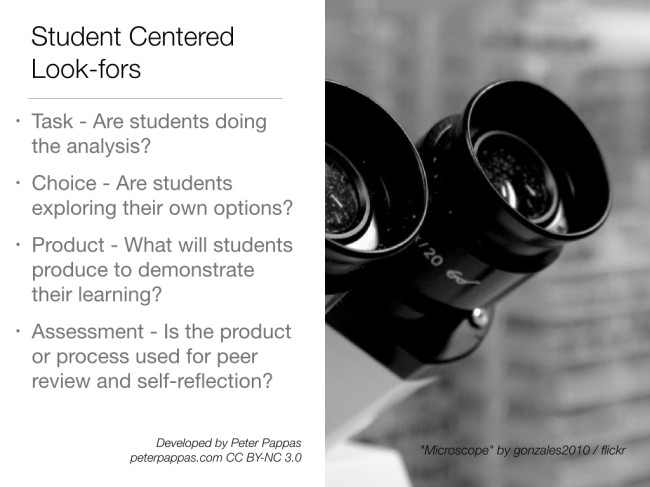 Student centered Look-fors