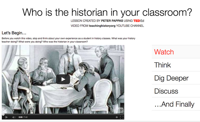 Who is the historian in your classroom