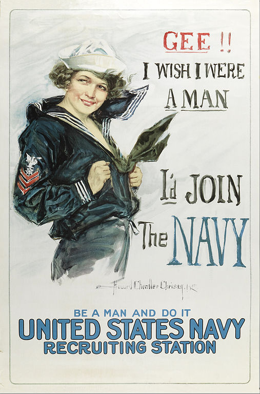 Howard_Chandler_Christy_-_Gee_I_wish_I_were_a_Man,_I'd_Join_the_Navy_-_Google_Art_Project