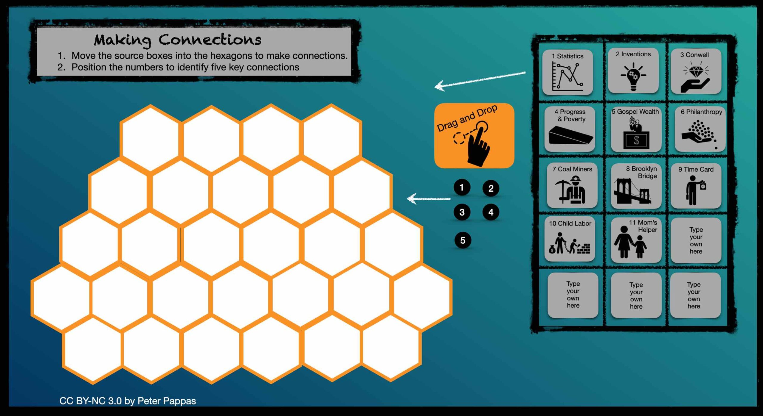 "Image showing ""Hexagonal Thinking Corroboration Tool."""